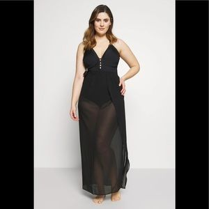 Simply Be sarong skirt in black plus size new!